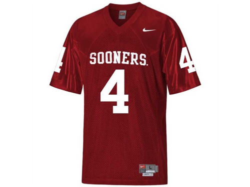 Oklahoma Sooners #4 Nike NCAA Twill Football Jersey