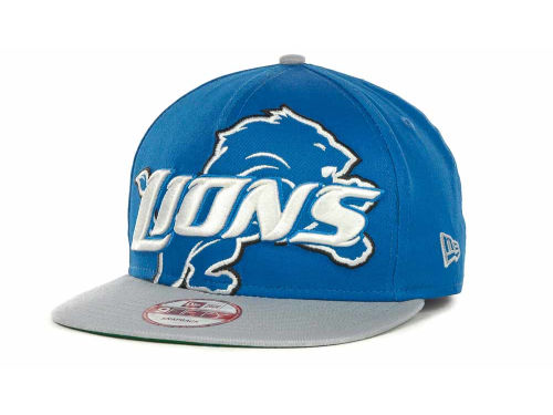 Detroit Lions New Era NFL Squared Up Snapback 9FIFTY Cap Hats