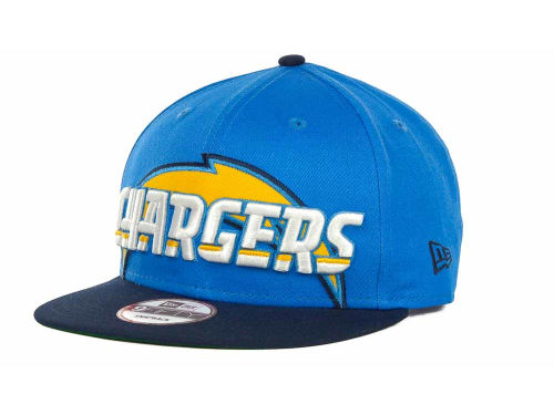 San Diego Chargers New Era NFL Squared Up Snapback 9FIFTY Cap Hats