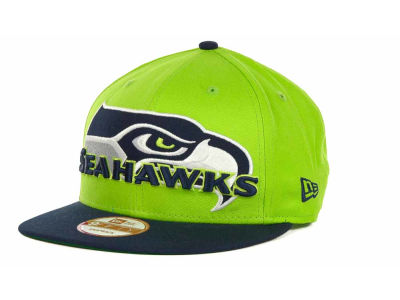 Seattle Seahawks NFL Squared Up Snapback 9FIFTY Cap Hats