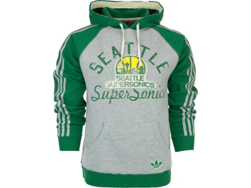 Seattle SuperSonics adidas NBA Court Visionary Pullover Hoodie