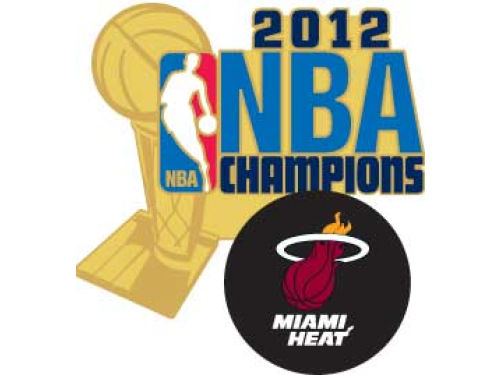 Miami Heat 2012 NBA Champs Lapel Pin