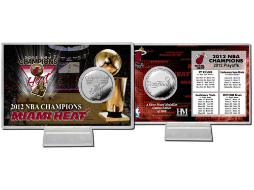 Miami Heat Highland Mint 2012 NBA Champs Coin Card