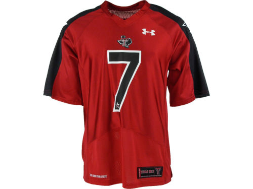 Texas Tech Red Raiders 7 Under Armour 2012 TT Pride Jersey