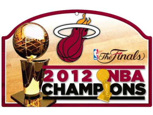 Miami Heat Wincraft 2012 NBA Champs 11x17 Wood Sign