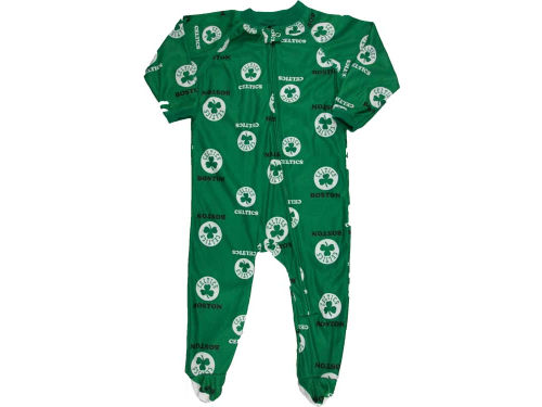 Boston Celtics Outerstuff NBA Nweborn Full Zip Raglan Coverall