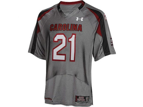 South Carolina Gamecocks Under Armour NCAA Youth Battle Grey Replica Jersey