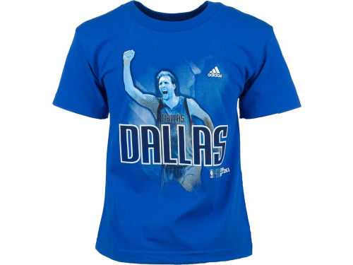 Dallas Mavericks Dirk Nowitzki adidas NBA Youth Fearless Player T-Shirt