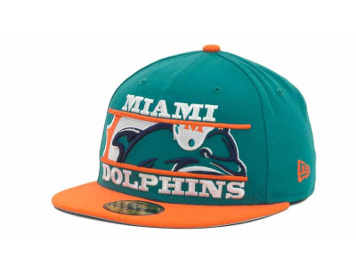 Miami Dolphins NFL Logo Zoom 59FIFTY Cap Hats