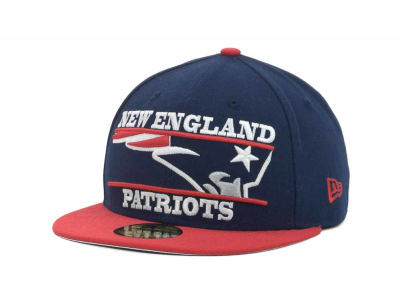 New England Patriots NFL Logo Zoom 59FIFTY Cap Hats