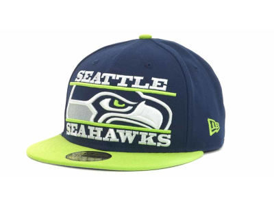 Seattle Seahawks NFL Logo Zoom 59FIFTY Cap Hats