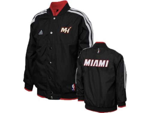 Miami Heat adidas NBA Youth On Court Reversible Jacket