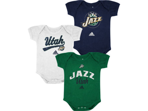 Utah Jazz adidas NBA Infant 3 pack Creepers