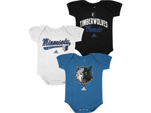 Minnesota Timberwolves adidas NBA Newborn 3 Pack Creepers