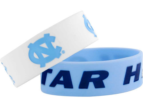 North Carolina Tar Heels Wide Bracelet 2pk Aminco
