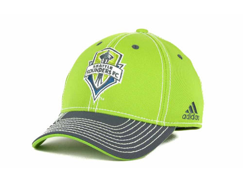 Seattle Sounders FC adidas MLS Summer Tour Tactel Flex Cap Hats