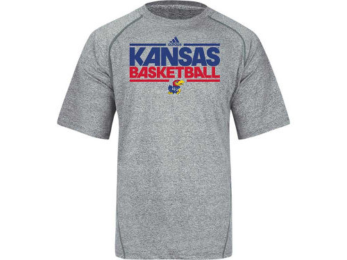 Kansas Jayhawks adidas NCAA On Court Practice Climalite T-Shirt