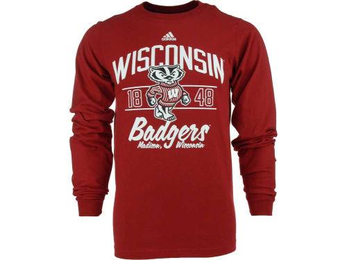 Wisconsin Badgers adidas NCAA Fullfillment Long Sleeve T-Shirt