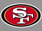 San Francisco 49ers Wincraft 4x4 Die Cut Decal Color Bumper Stickers & Decals