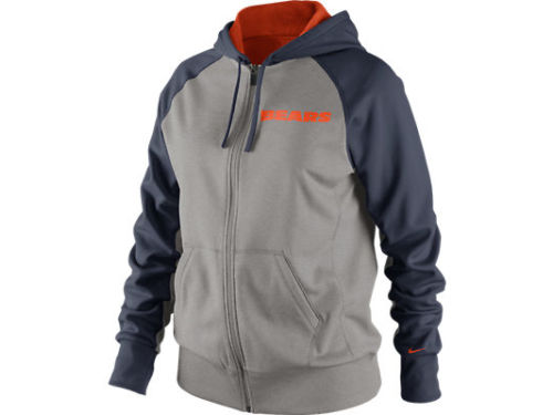 Chicago Bears Nike NFL Womens Die Hard Full Zip Hoodie