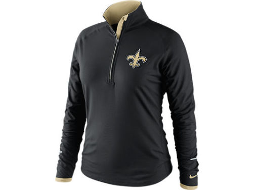 New Orleans Saints Nike NFL Womens Conversion 1/2 Zip Top