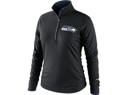 Seattle Seahawks Nike NFL Womens Conversion 1/2 Zip Top
