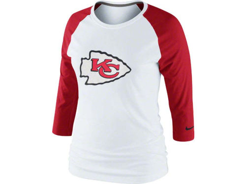 Kansas City Chiefs Nike NFL Womens 3rd N Long Raglan T-Shirt