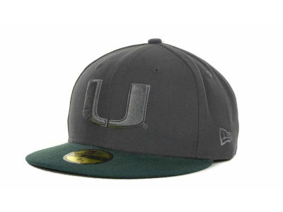 Miami Hurricanes NCAA AG Tone 59FIFTY Cap Hats
