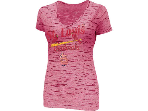 St. Louis Cardinals Majestic MLB Womens Long Shot Fashion T-Shirt