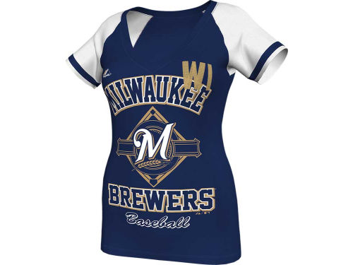 Milwaukee Brewers Majestic MLB Womens This Is My City Fashion T-Shirt