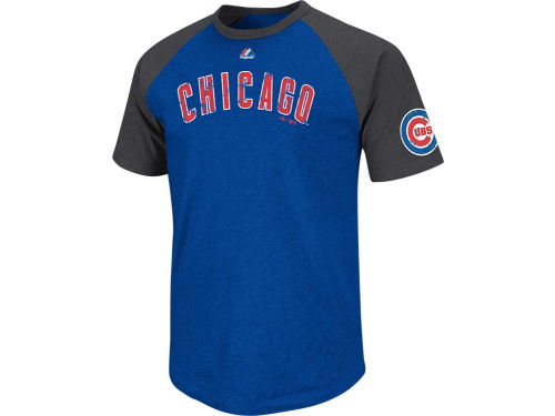Chicago Cubs Majestic MLB Big Leaguer Fashion T-Shirt