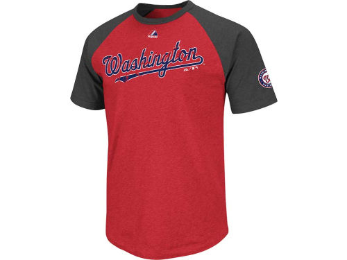 Washington Nationals Majestic MLB Big Leaguer Fashion T-Shirt