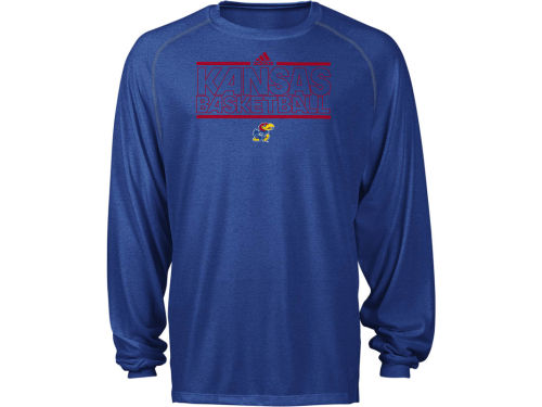 Kansas Jayhawks adidas NCAA Tone Out Long Sleeve Practice T-Shirt