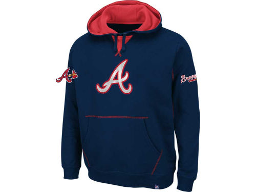 Atlanta Braves Majestic MLB True Leader Hooded Fleece