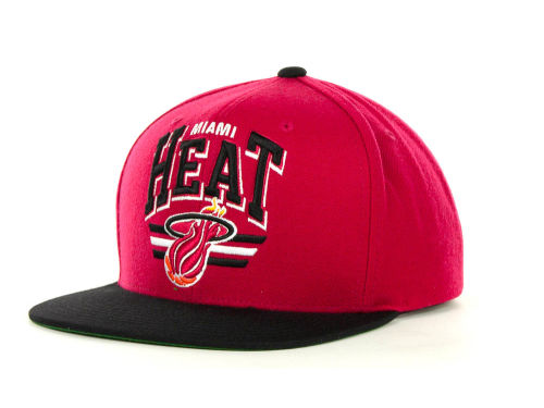 Miami Heat Mitchell and Ness Mitchell & Ness Stadium Snapback Cap Hats
