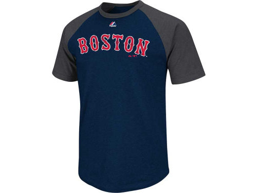 Boston Red Sox Majestic MLB Youth Big Leaguer Raglan T-Shirt
