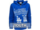 Los Angeles Dodgers Majestic MLB Youth Pop Fly Full Zip Hooded Fleece