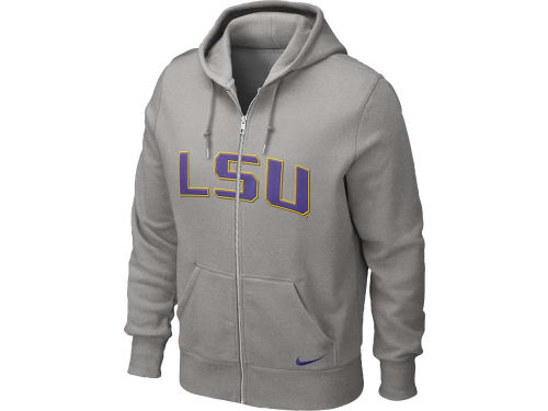 LSU Tigers Nike NCAA Classic Full Zip Hooded Sweatshirt