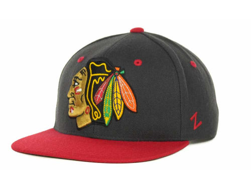 Chicago Blackhawks Zephyr NHL Charcoal Refresh Cap Hats