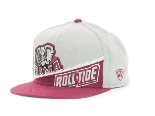 Alabama Crimson Tide Top of the World NCAA Cut Up Snapback Cap Hats