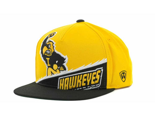 Iowa Hawkeyes Top of the World NCAA Cut Up Snapback Cap Hats