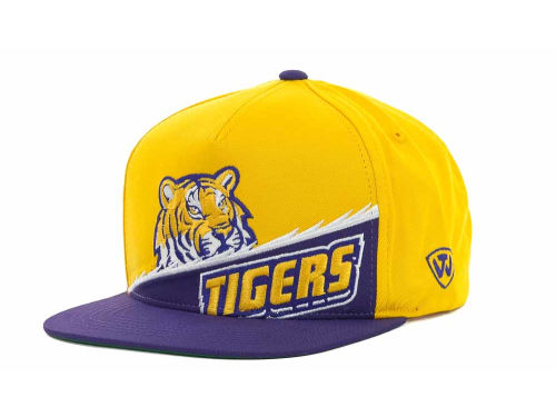 LSU Tigers Top of the World NCAA Cut Up Snapback Cap Hats