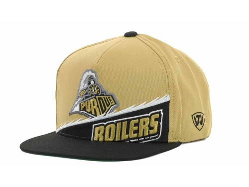 Purdue Boilermakers Top of the World NCAA Cut Up Snapback Cap Hats