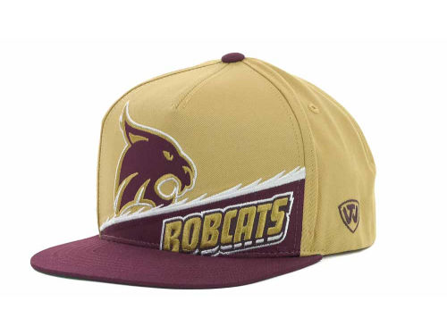 Texas State Bobcats Top of the World NCAA Cut Up Snapback Cap Hats