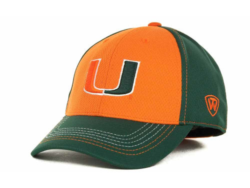 Miami Hurricanes Top of the World NCAA Goal Line LLR Cap Hats