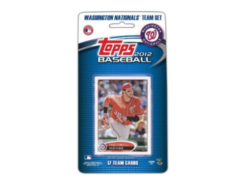 Washington Nationals 2012 MLB Team Card Set