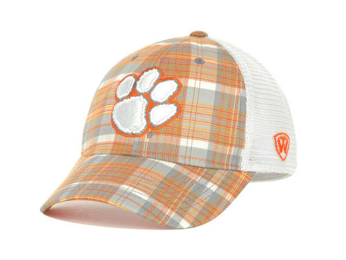 Clemson Tigers Top of the World NCAA Plaid 1 Cap Hats