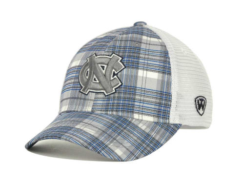 North Carolina Tar Heels Top of the World NCAA Plaid 1 Cap Hats