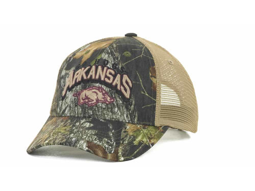 Arkansas Razorbacks Top of the World NCAA Numberone Camo Snapback Cap Hats