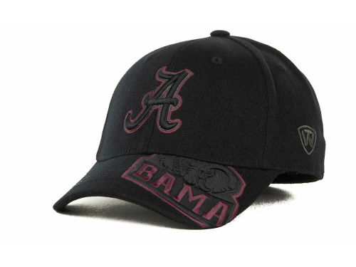 Alabama Crimson Tide Top of the World NCAA Stride Black Cap Hats